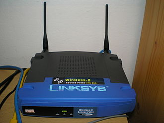 "Wireless access point - Linksys ""WAP54G"" 802.11g wireless router"