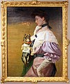 Lino selvatico, ritratto femminile con cane, 1906.jpg