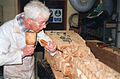 Little Moreton Hall, Cheshire - carving a capitol and post.jpg