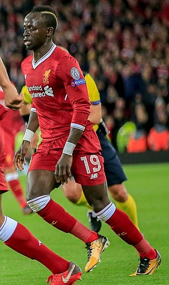 Sadio Mané - Mané playing for Liverpool in 2017