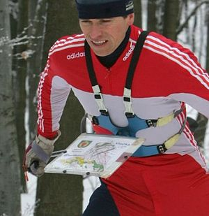 Ski-orienteering - Map holder worn on chest