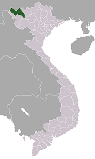 Operation Pollux - Location of Lai Chau Province in Vietnam
