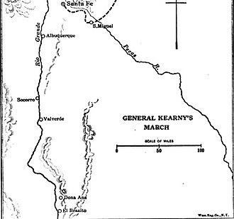 Battle of El Brazito - Image: Location of El Brazito