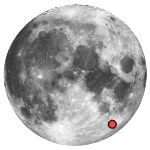 Location of lunar crater rheita
