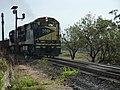 Locomotiva de comboio que entrava sentido Guaianã no pátio da Estação Ferroviária de Itu - Variante Boa Vista-Guaianã km 203 - panoramio.jpg