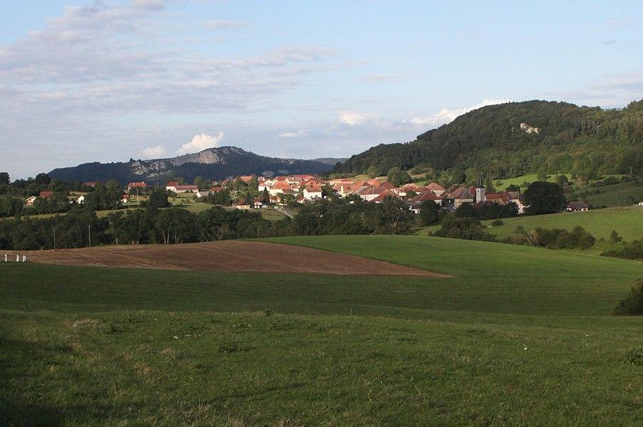 Vue de Longeville (Doubs).
