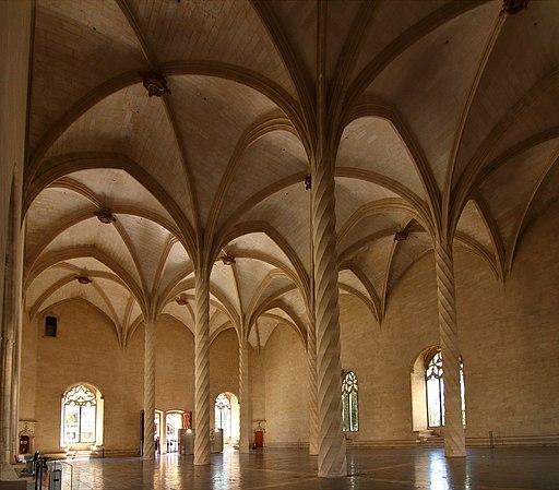 Lonja de Palma de Mallorca, interior, día