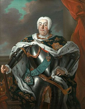 Second Silesian War - Frederick Augustus II of Saxony and Poland, by Louis de Silvestre