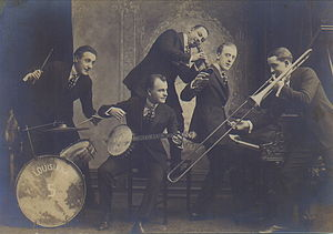 Louisiana Five - Left to right: Anton Lada, Karl Berger, Yellow Nunez, Joe Cawley, Charles Panelli