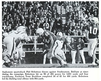 Phil Robertson - Robertson throws against the Southeastern Louisiana Lions.