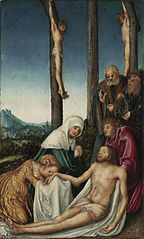 The Lamentation with the Two Thieves Crucified