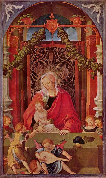 File:Lucas van Leyden - Virgin and Child with Angels - Gemäldegalerie2.jpg