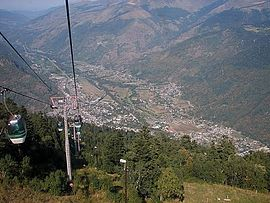 The Luchon Valley from the Cable Car