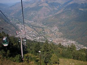 Bagnères-de-Luchon - The Luchon Valley from the Cable Car