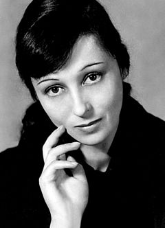 Luise Rainer was the first and only German actress as well as the first to win two consecutive acting Oscars, for The Great Ziegfeld (1936) and The Good Earth (1937); the youngest two-time winner, at 27 and 28 years old. Luise Rainer - 1941.jpg
