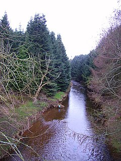 Luther Water river in Aberdeenshire, Scotland