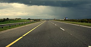 N7 road (Ireland) - Raised section of the Kildare bypass.