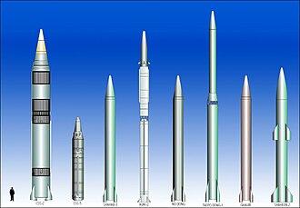 Medium-range ballistic missile - IRBM and MRBM missiles.