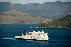 KiwiRail - Image: MV Kaitaki, Wellington Harbour