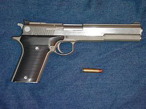 .30 Carbine - Automag III .30 Carbine Pistol made by Irwindale Arms, Inc. with .30 Carbine cartridge