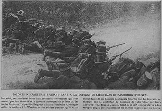 Belgian Armed Forces - Belgian carabiniers defending Liege in August 1914