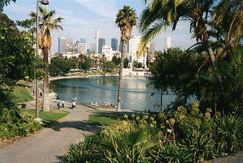 MacArthur Park, Los Angeles, California, USA. ...
