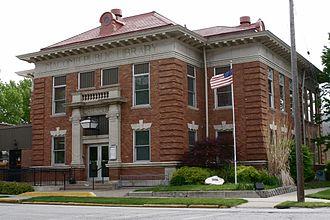 Macomb, Illinois -  A Carnegie library, Macomb, Illinois