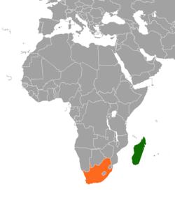 Map Of Africa Madagascar.Madagascar South Africa Relations Wikipedia