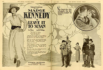 Madge Kennedy - Advertisement for Leave it to Susan (1919).