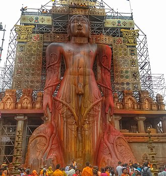 Tourism in India - The Bahubali statue in Shravanabelagola is the largest ancient monolithic statue in the world
