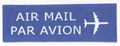 Mail label of Pos Malaysia - Air Mail.png
