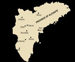 Cartina Alicante Spagna.Provincia Di Alicante Wikipedia