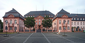 Deutschhaus Mainz - Deutschhaus - Regional-Parliament of Rhineland-Palatinate - view from the city (Deutschhausplatz)