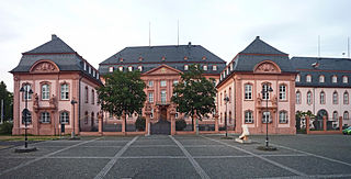 Deutschhaus Mainz historical building in Mainz, Germany