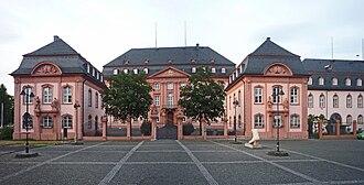 Deutschhaus Mainz - Deutschhaus - Regional-Parliament of Rhineland-Palatinate - view from the city (Deutschhausplatz)