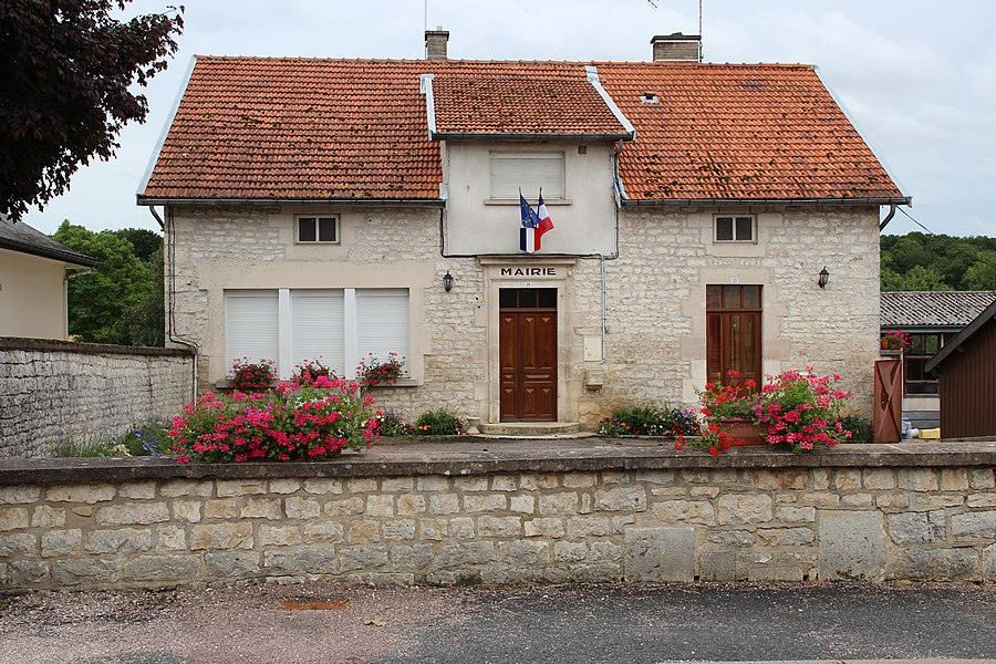 The town hall of Laville-aux-Bois, France.