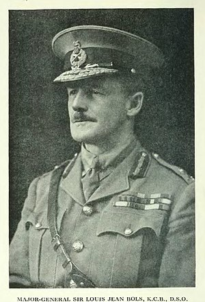 Louis Bols - Image: Major General Sir Louis Jean Bols, KCB, DSO