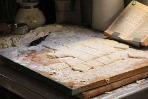 Beignet - Image: Making beignets 1