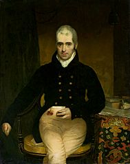 Portrait of a man with a snuff-box.