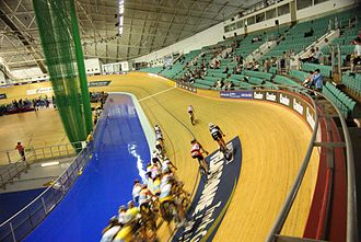Bradley Wiggins - Manchester Velodrome, pictured in 2010uss, where Wiggins won two silver medals at the 2002 Commonwealth Games.