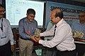 Manebendra Bhattacharyya Receiving Memento from Ananda Kishore Pal after Delivery Lecture - Quality Sportsperson - SPORTSMEDCON 2019 - SSKM Hospital - Kolkata 2019-03-17 0160.JPG
