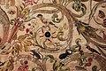 Manifattura forse fiorentina, paliotto della madonna del letto, raso, seta, oro e argento, 1601, da museo del ricamo di pistoia 03 uccelli, scarabeo, topolino.jpg