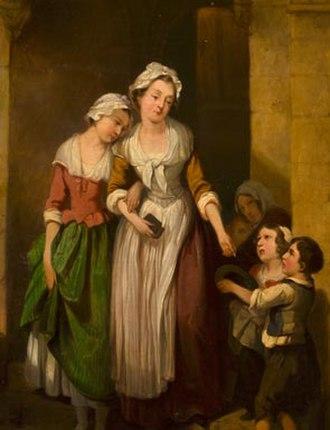 Altruism - Giving alms to beggar children