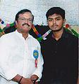 Manu Ravikumar Mepram with Bheeman Raghu.jpg