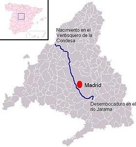 R o manzanares wikipedia la enciclopedia libre for Donde esta la comunidad de madrid
