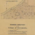 Map and Business Directory of Sacramento, Wisconsin (1860).png