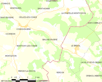 Map of Baulne-en-Brie