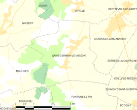 Mapa obce Saint-Germain-le-Vasson