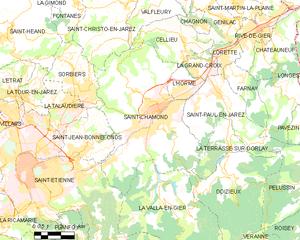 圣沙蒙市镇地图
