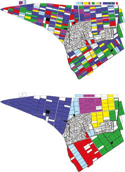 Map land consolidation process Shingai community, Hikone City, Shiga Prefecture, Japan.png
